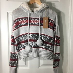 YES LOLA Snowflake Comfy Sweater